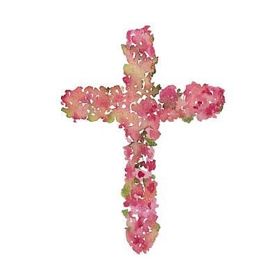 Painting - Flower Cross by Liana Yarckin