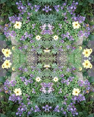 Photograph - Flower Dapple 771 A Fractal From Photo by Julia Woodman