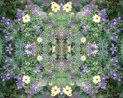Photograph - Flower Dapple 771 A Side Fractal From Photo  by Julia Woodman
