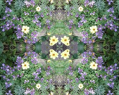 Photograph - Flower Dapple 771 B Fractal From Photo  by Julia Woodman