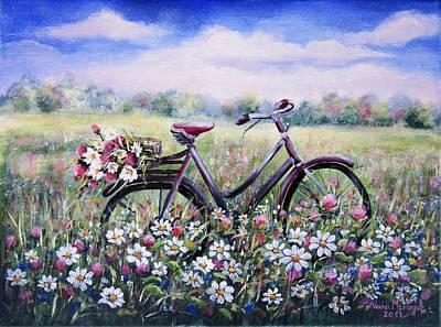 Painting - Flower Day by Vesna Martinjak