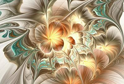 Digital Art - Flower Daze - Horizontal by Anastasiya Malakhova