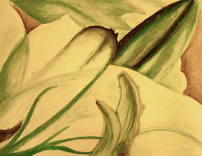 Oil Pastel Drawing - Flower Detail by Emily Jones