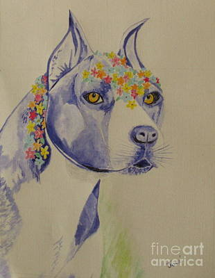 Photograph - Flower Dog 1 by Hilda and Jose Garrancho