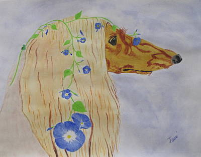 Painting - Flower Dog 10 by Hilda and Jose Garrancho