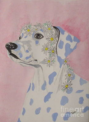 Painting - Flower Dog 2 by Hilda and Jose Garrancho