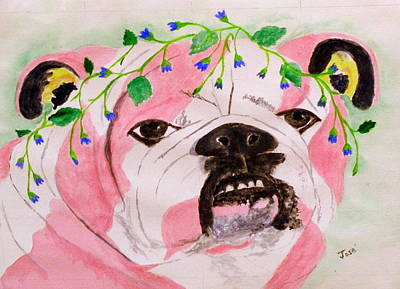 Painting - Flower Dog 3 by Hilda and Jose Garrancho