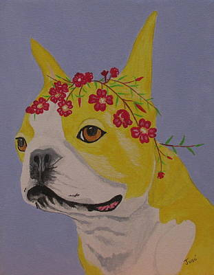 Painting - Flower Dog 5 by Hilda and Jose Garrancho