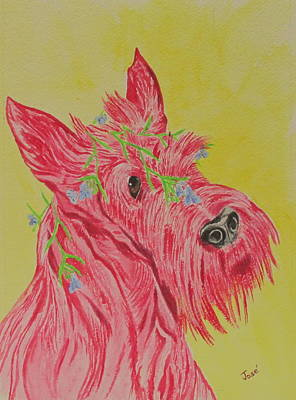 Painting - Flower Dog 6 by Hilda and Jose Garrancho