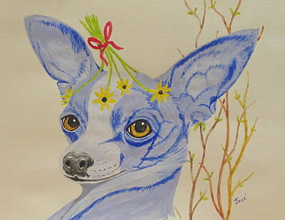 Painting - Flower Dog 7 by Hilda and Jose Garrancho