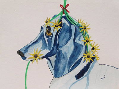 Painting - Flower Dog 8 by Hilda and Jose Garrancho