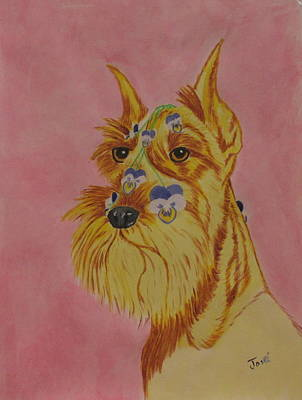 Painting - Flower Dog 9 by Hilda and Jose Garrancho