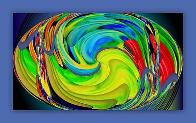 Digital Art - Flower Ellipse by Halina Nechyporuk