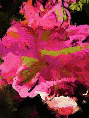 Digital Art - Flower Euphoria Magenta Pink by Jackie VanO