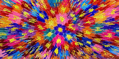 Homemade Quilts Photograph - Flower Explosion by LeeAnn McLaneGoetz McLaneGoetzStudioLLCcom