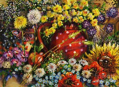 Painting - Flower Extravaganza by Dariusz Orszulik