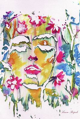 Painting - Flower Face by Laura Rispoli
