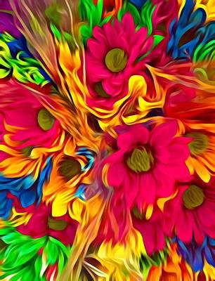 Digital Art - Flower Fantasy  by Gayle Price Thomas