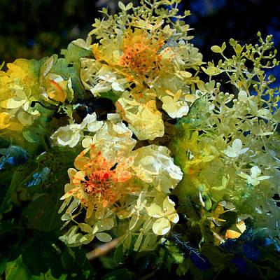 Flowers Of Spring Digital Art - Flower Fantasy by Hanne Lore Koehler
