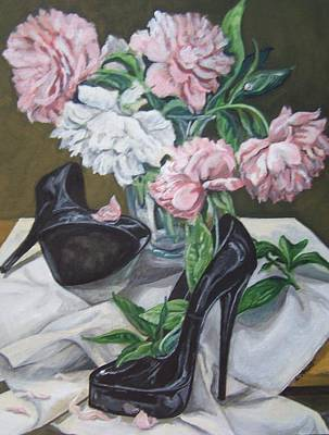 Art Print featuring the painting Flower Fetish by Laura Aceto