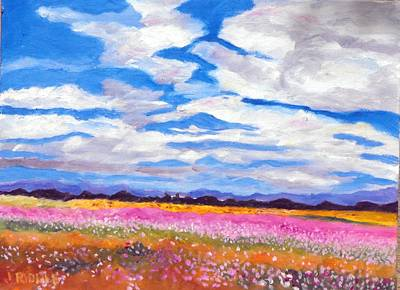 Painting - Flower Field by Jack Riddle