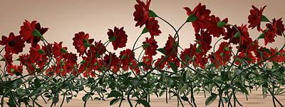 Flower Field Original by Peter Barker