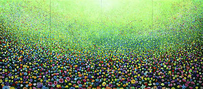 Painting - Flower Field Riot by Geoff Greene