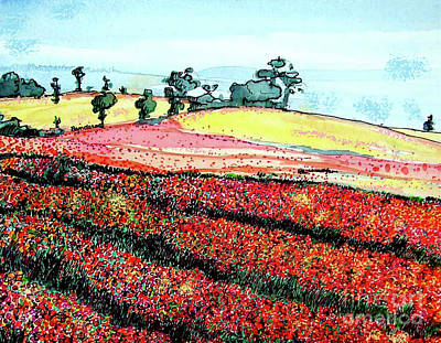 Painting - Flower Fields by Terry Banderas