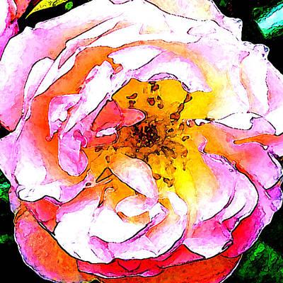 Easter Flowers Digital Art - Flower Figment Seven by Linda Mears