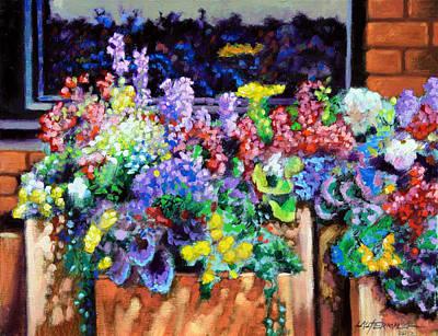 Flower Fireworks Original by John Lautermilch
