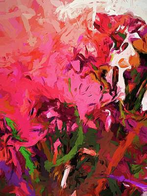 Digital Art - Flower Flames Soul Pink by Jackie VanO
