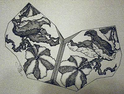 Flower Fossil Art Print by Tammera Malicki-Wong