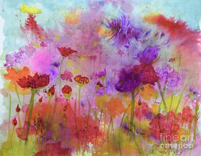 Painting - Flower Frenzy  by Barrie Stark