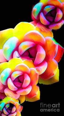 Digital Art - Flower Frenzy by Gayle Price Thomas