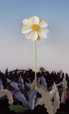 Sculpture - Flower From Thorn Patch by Tim Nyberg