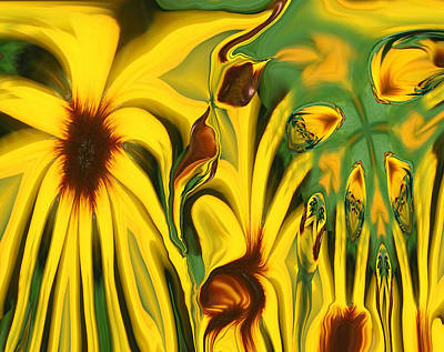 Abstract Flowers Royalty-Free and Rights-Managed Images - Flower Fun by Linda Sannuti