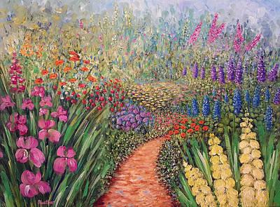 Art Print featuring the painting Flower Gar02den  by Lynn Buettner