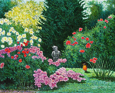Painting - Flower Garden 13 by Michael Frank