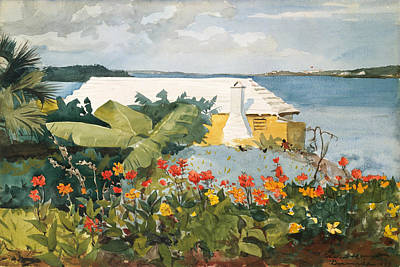 Painting - Flower Garden And Bungalow by Winslow Homer