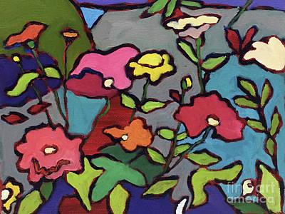 Flower Garden Art Print by Catherine Martzloff