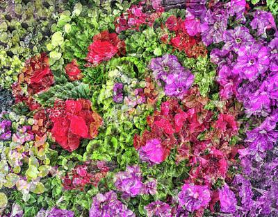Mixed Media - Flower Garden by Judi Saunders