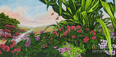 Painting - Flower Garden Vii by Michael Frank