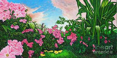 Painting - Flower Garden Xi by Michael Frank