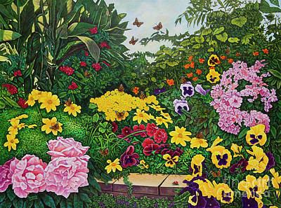 Painting - Flower Garden Xii by Michael Frank