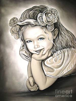 Flower Girl Art Print by Anastasis  Anastasi