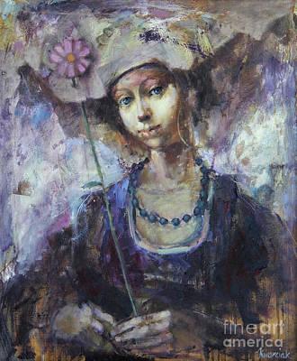 Flower Girl Art Print by Michal Kwarciak