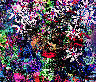 Designers Choice Mixed Media - Flower Girl by Natalie Holland