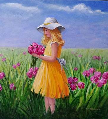 Painting - Flower Girl by Rosie Sherman