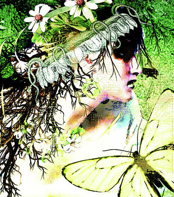 Mixed Media - Flower Girl by Sue Masterson