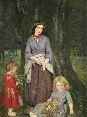 Gales Painting - Flower Girl  by William Gale